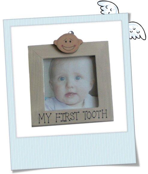 Babygeschenk Bilderrahmen versilbert