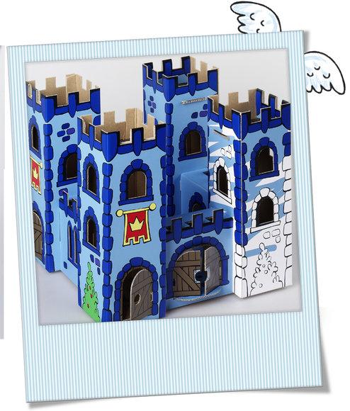 Burg aus Karton