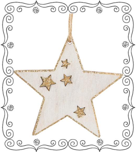 Stern Weihnachtsanhänger