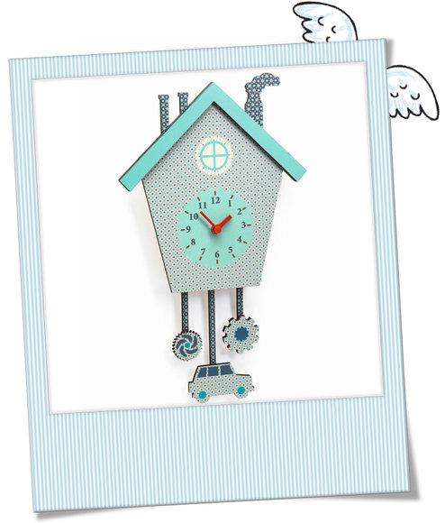 Wanduhr Caros Clock Djeco