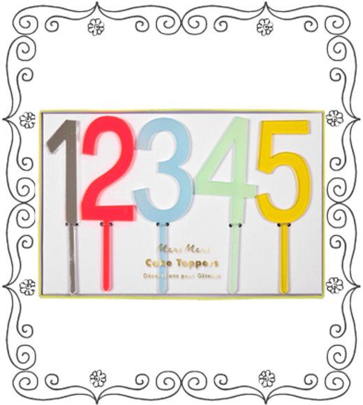 Meri meri Zahl für Geburtstagskuchen