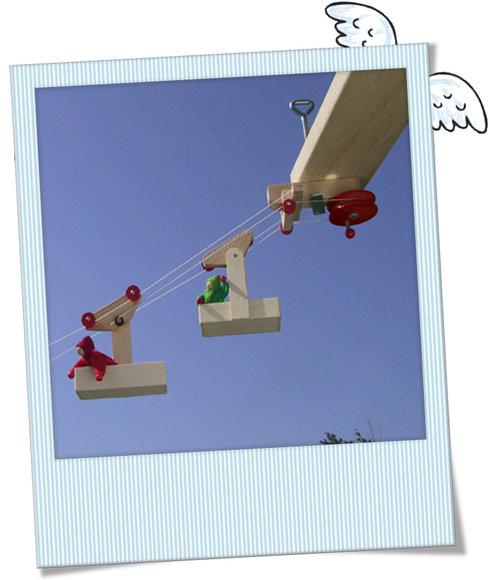 Kleine Seilbahn Zum Spelen Aus Holz Babygeschenke Taufgeschenke