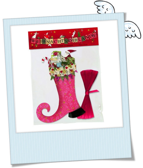 Weihnachtsgirlande Stiefel